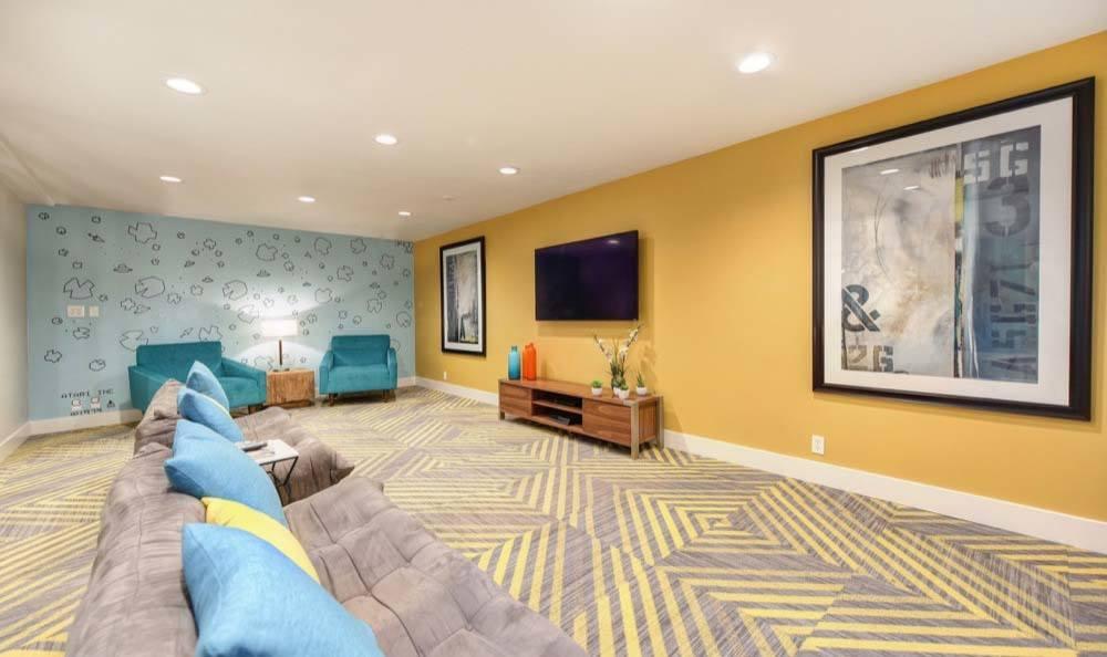 Sunnyvale apartments includes an entertainment space