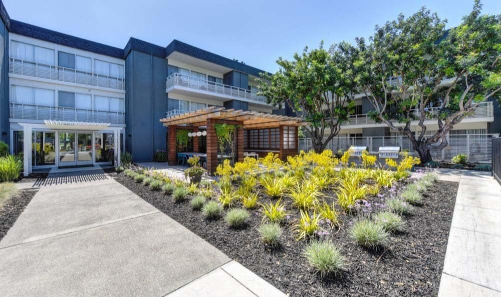 Beautiful walking paths at Citra in Sunnyvale, CA
