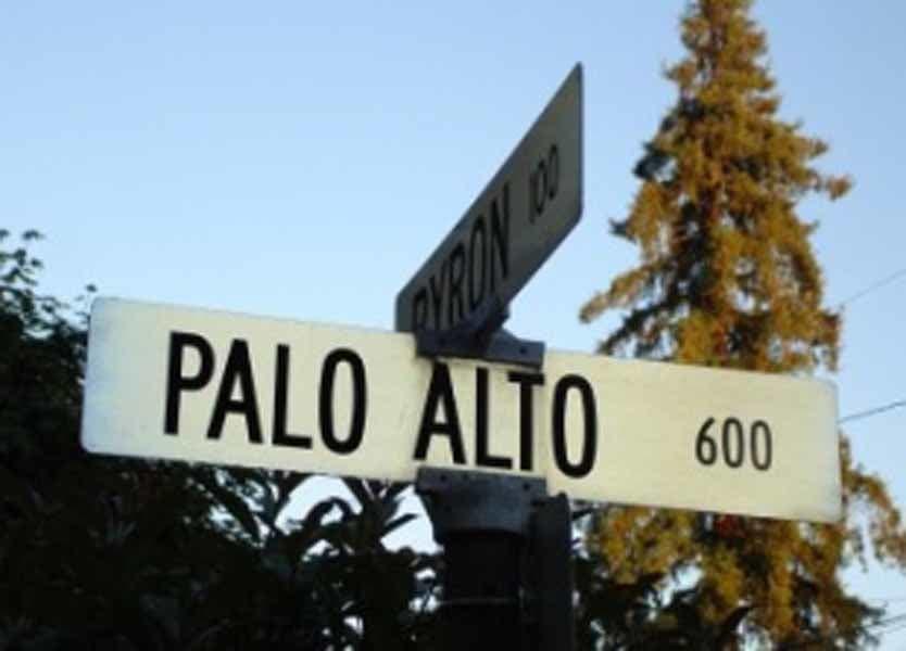 Palo Alto street sign
