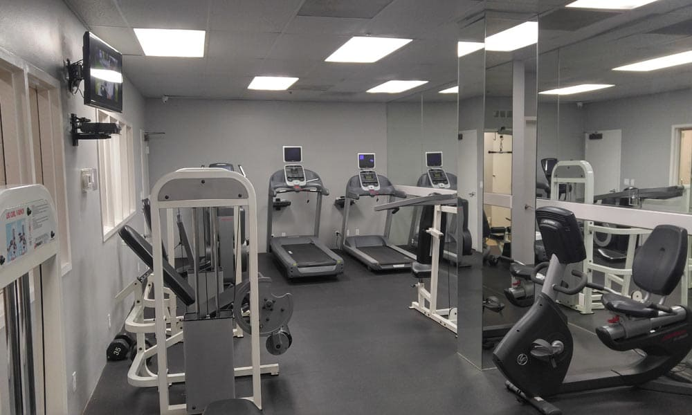 Beautiful fitness center at Sofi at 3rd in Long Beach, CA
