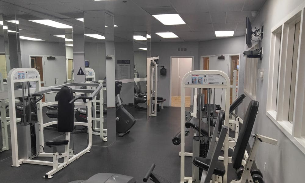 Modern fitness center at Sofi at 3rd in Long Beach, CA