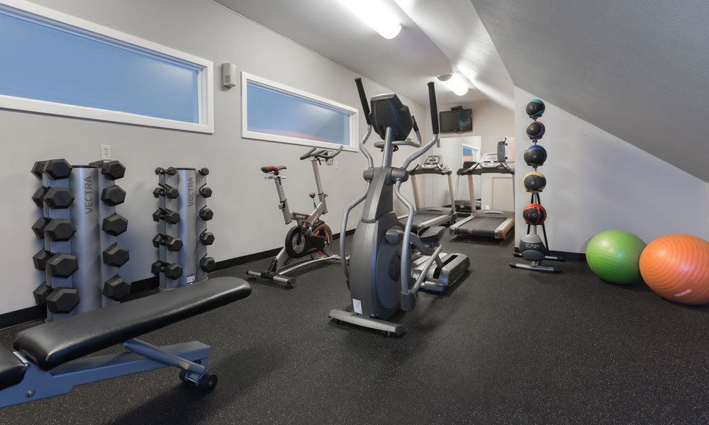 Beautiful fitness center at Sofi Lake Oswego in Lake Oswego, OR