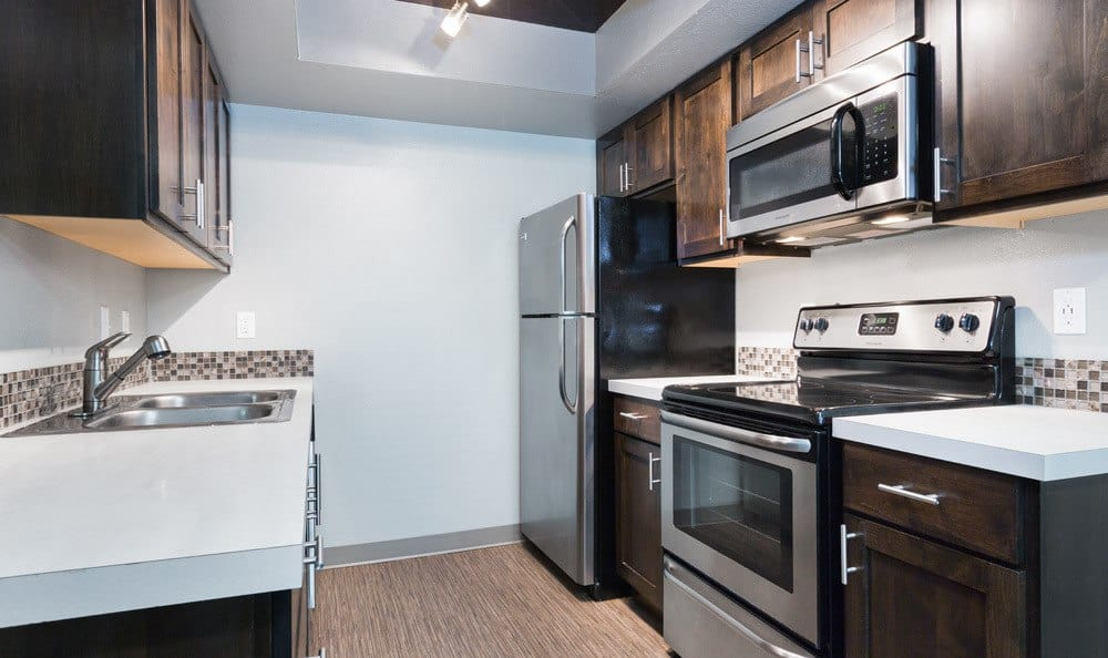 Modern Kitchen at the Apartments for rent in Lake Oswego, OR