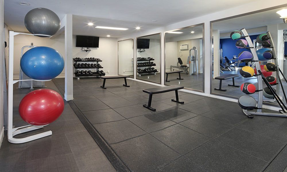 Fitness center at Vue at Warner Park in Woodland Hills, California