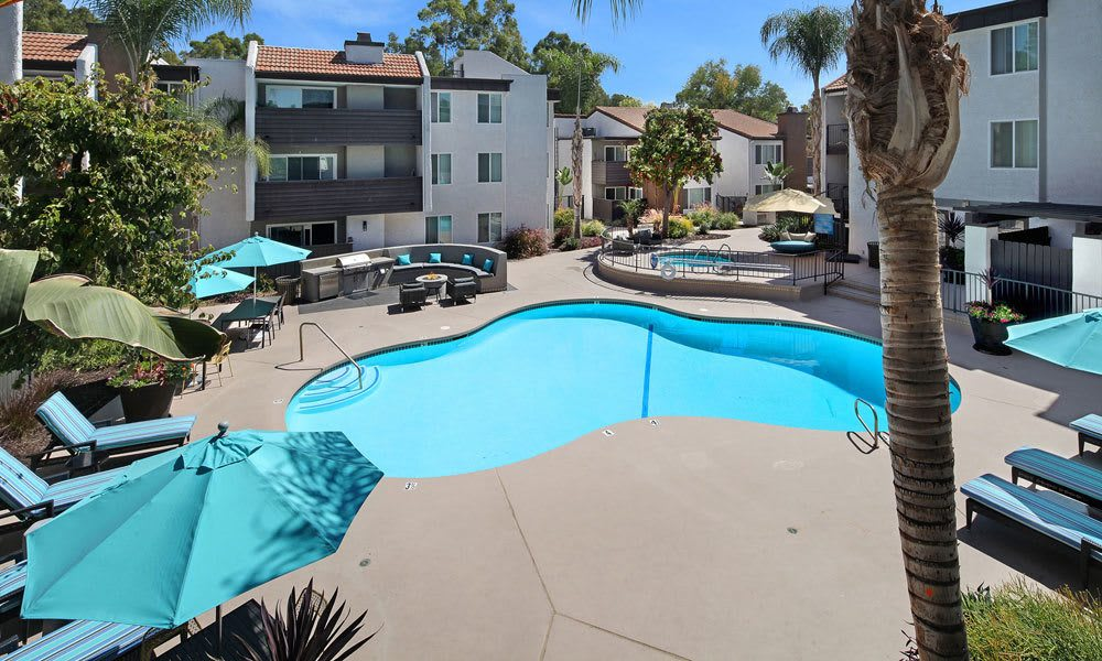 Swimming pool At Vue at Warner Park In Woodland Hills CA