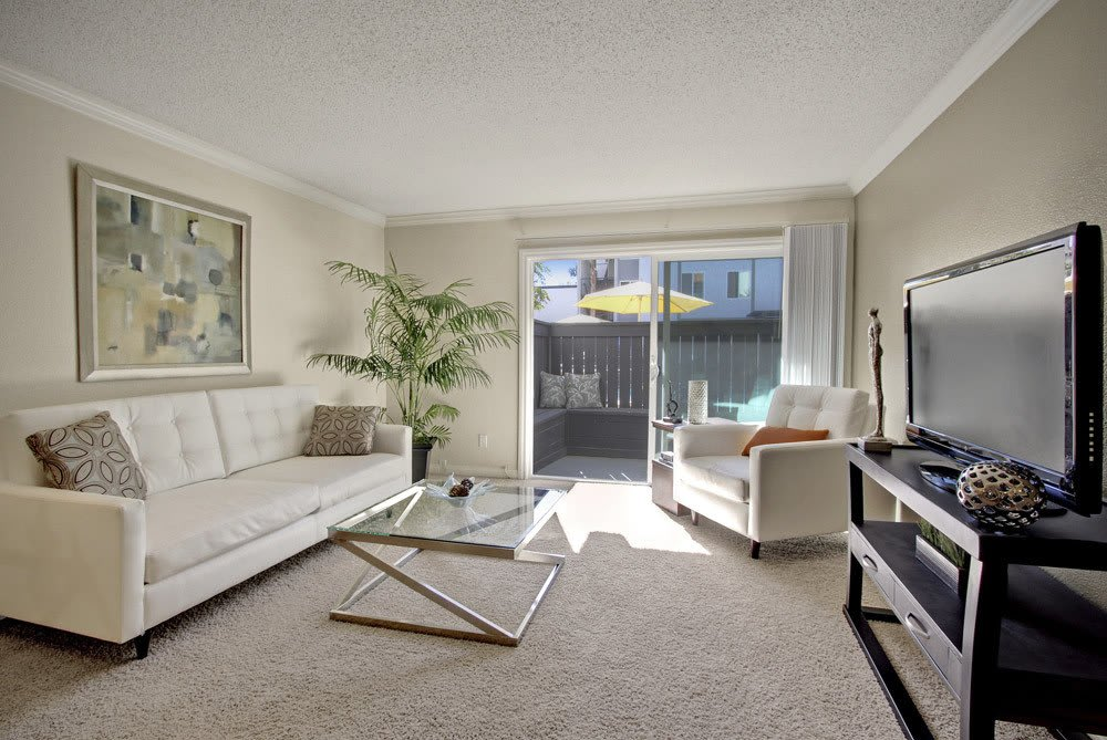 Living room of Woodland Hills apartments