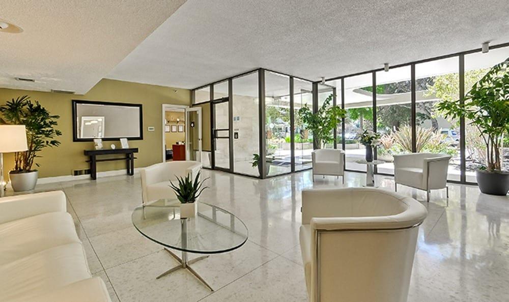 Beautiful reception area at apartments The Marc, Palo Alto in Palo Alto, CA