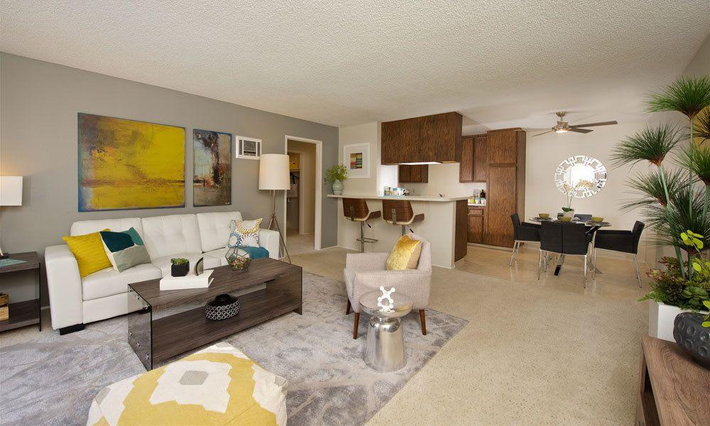 Spacious living room at Verse La Mesa in La Mesa, CA