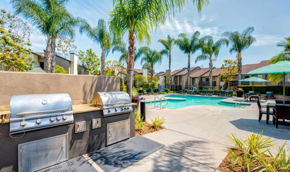 Beautiful bbq area at Sofi Laguna Hills in Laguna Hills, CA