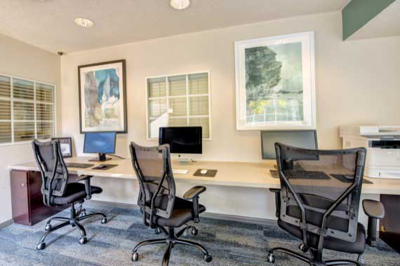 Business center at apartments in Laguna Hills
