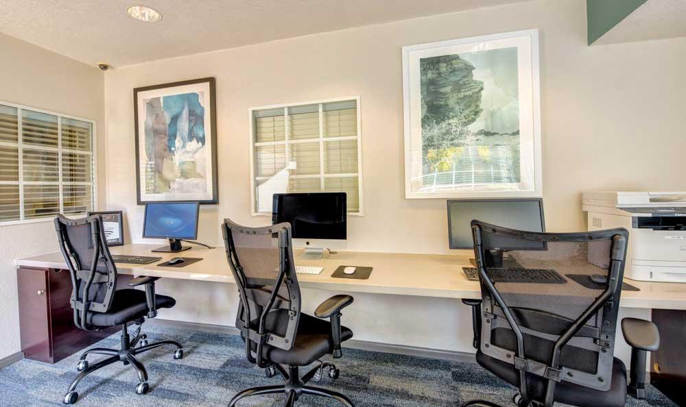 Business center at Sofi Laguna Hills in Laguna Hills, CA