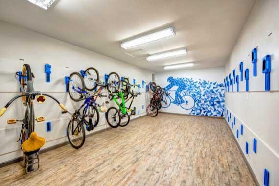 Bicycle storage at Sofi Laguna Hills