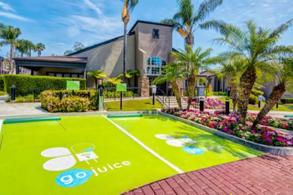 Electric charging station at apartments in Laguna Hills