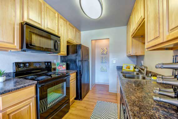 Kitchen At Our Apartments In Laguna Hills