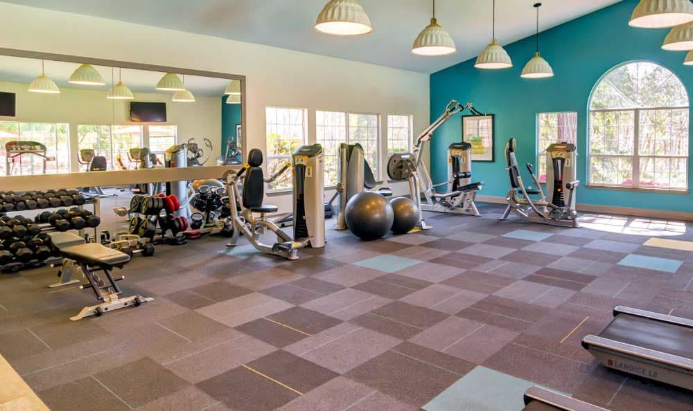 Beautiful fitness center at Sofi at Murrayhill in Beaverton, OR