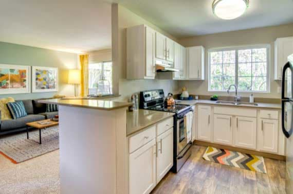 Spacious kitchen at apartments in Beaverton, OR