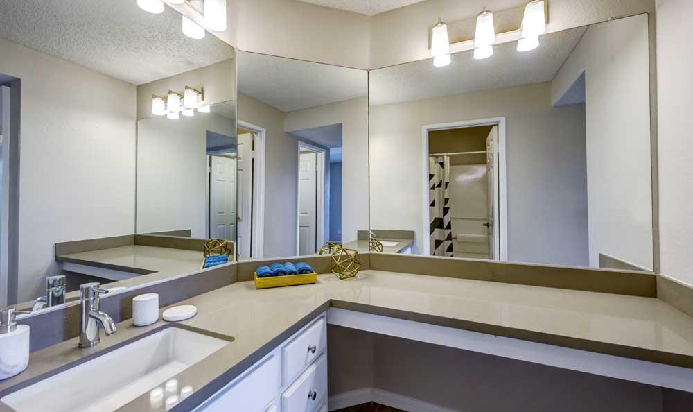 Spacious bathroom at Sofi Irvine in Irvine, CA
