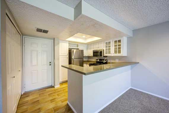 Bright kitchen at Sofi Irvine in Irvine, CA
