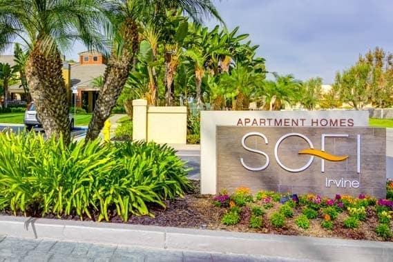 Luxury entryway at Sofi Irvine in Irvine, CA