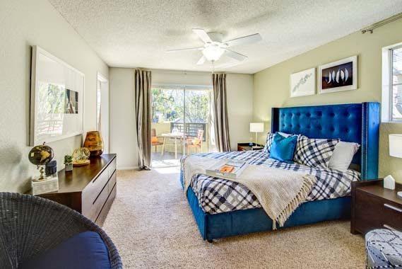 Beautiful bedroom at apartments in Irvine, CA