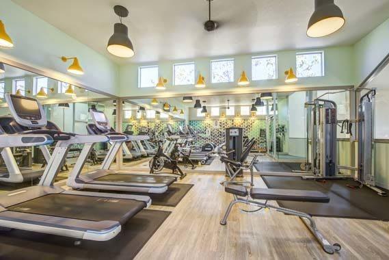 Beautiful fitness center at Sofi Irvine in Irvine, CA