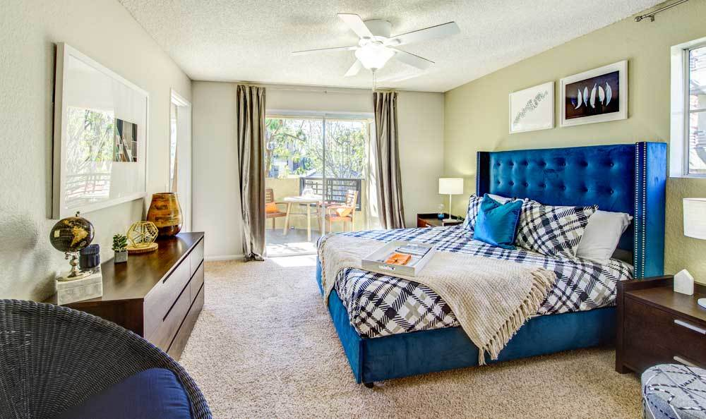 Beautiful bedroom at apartments in Irvine, CA