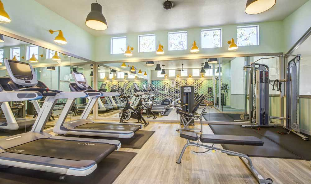 Beautiful fitness center at Sofi Irvine in Irvine, CA