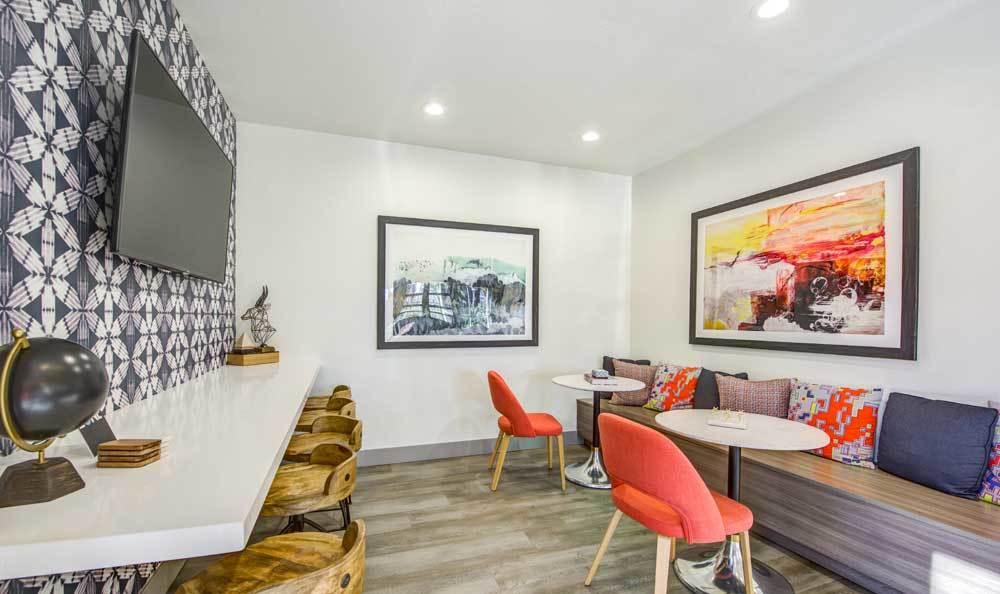 Beautiful living room at Sofi Irvine in Irvine, CA