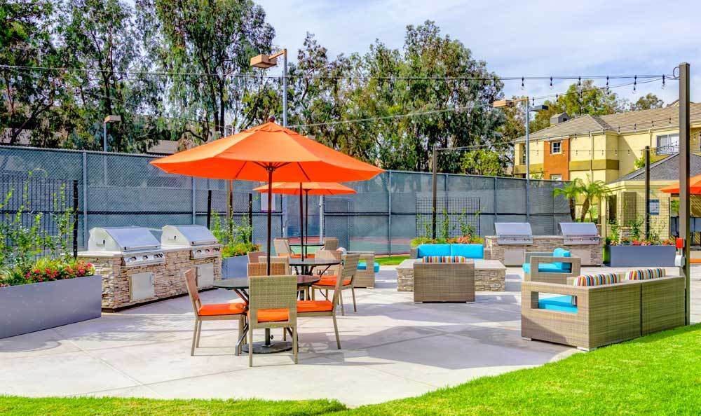 Beautiful bbq area at apartments in Irvine, CA