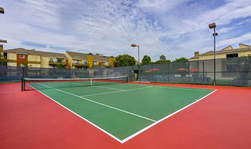 Beautiful tennis court at Sofi Irvine in Irvine, CA