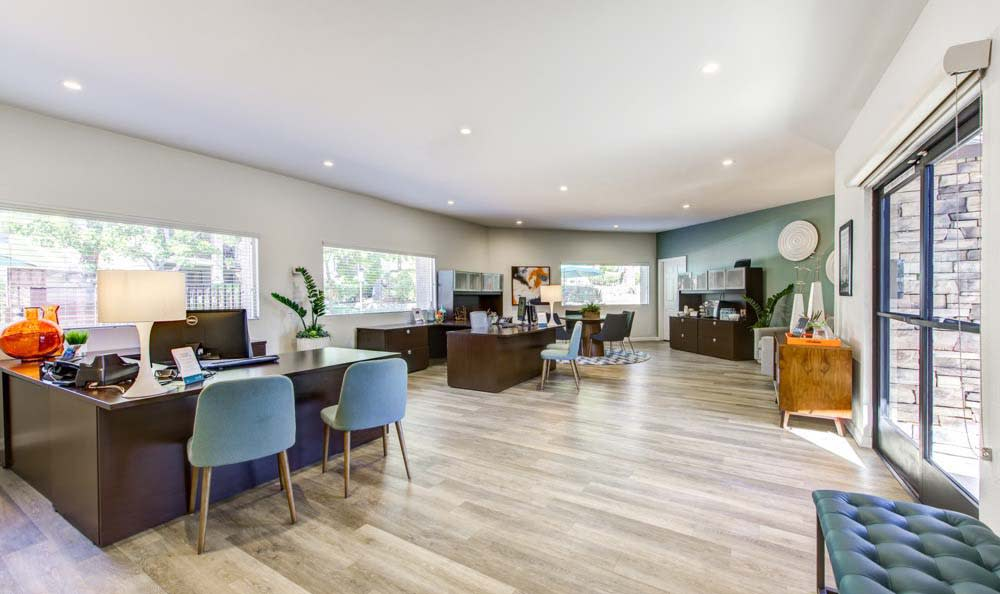 Hardwood floors at apartments in Poway, CA