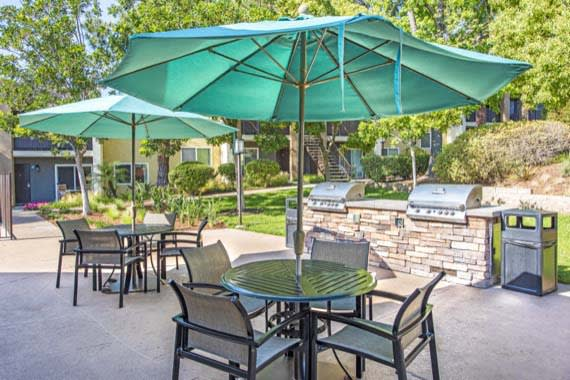 Luxury bbq area at Sofi Poway in Poway, CA