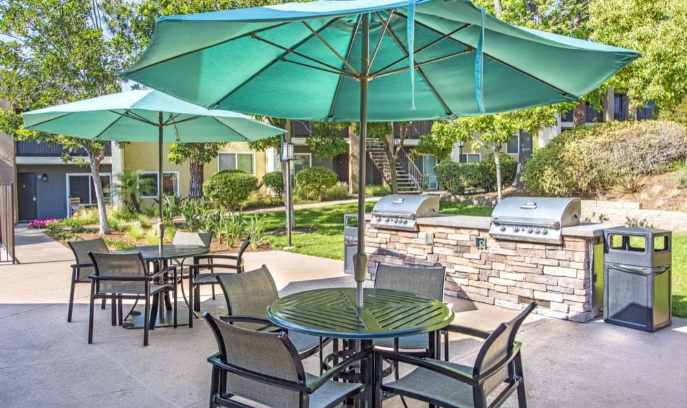 Luxury bbq area at Sofi Poway in Poway, CA