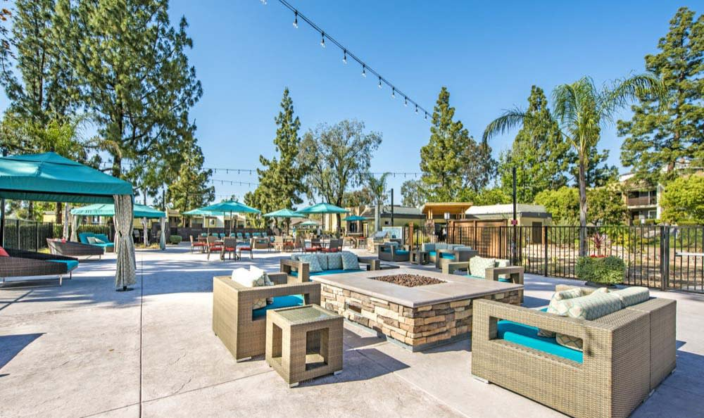 A bbq area that is great for entertaining at apartments in Poway, CA
