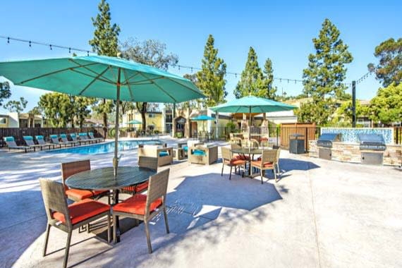 A bbq area that is great for entertaining at Sofi Poway in Poway, CA