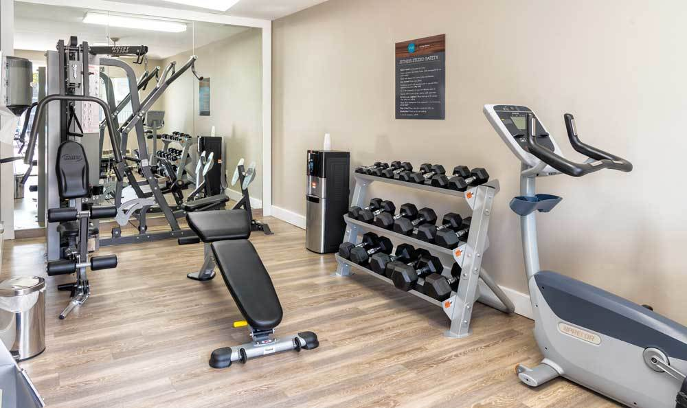 fitness center At Vue at Lake Murray In San Diego CA