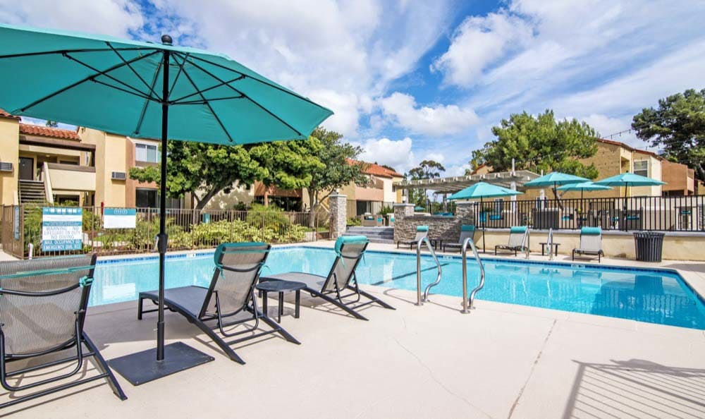 Our apartments in San Diego, CA offer a swimming pool