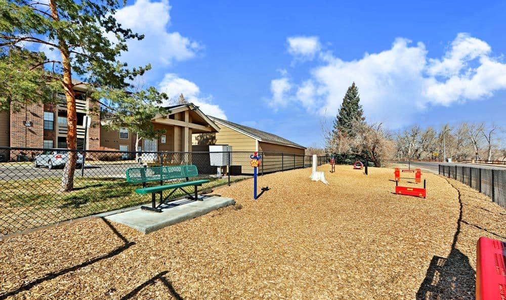 Spacious dog park at apartments in Westminster, CO
