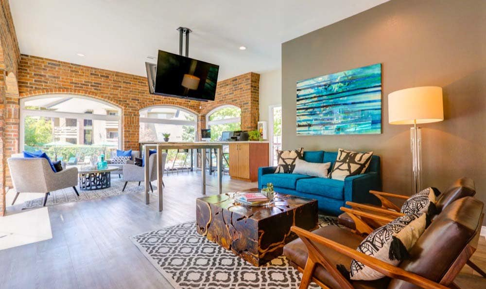 Luxury clubhouse at apartments in Westminster, CO