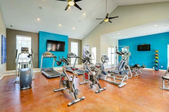 Fitness center at apartments in Westminster, CO