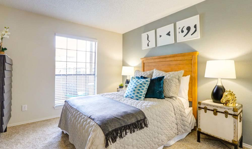 Beautiful bedroom at Sofi Westminster in Westminster, CO