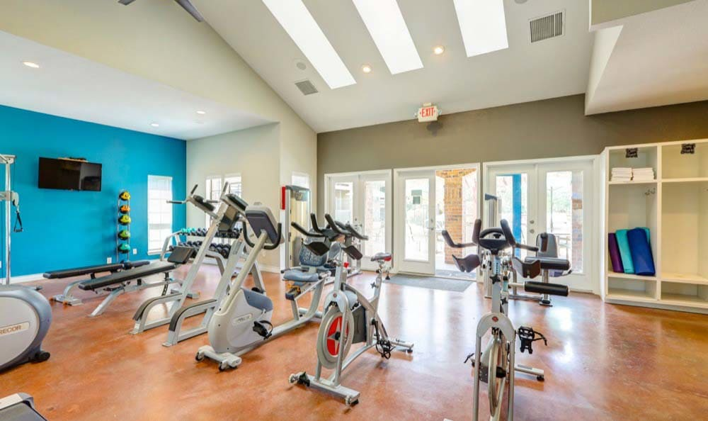 Fitness center at Sofi Westminster in Westminster, CO
