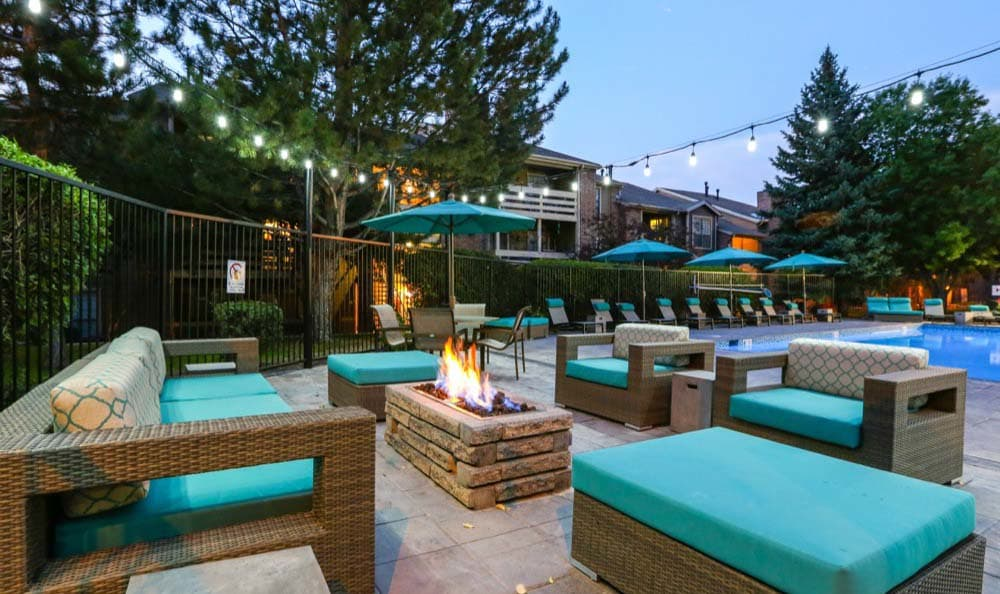 Beautiful bbq area at Sofi Westminster in Westminster, CO