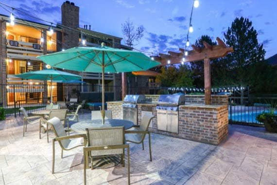 Beautiful bbq area at apartments in Westminster, CO