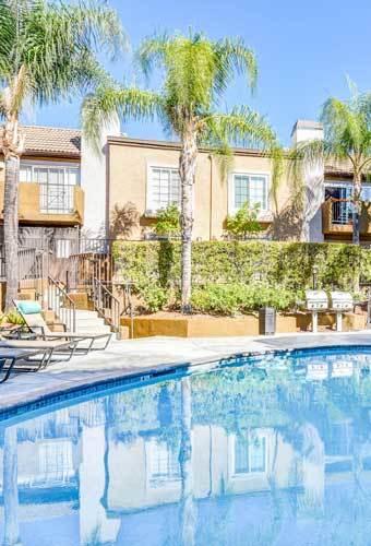 Beautiful swimming pool at Waterstone Media Center in Burbank, CA