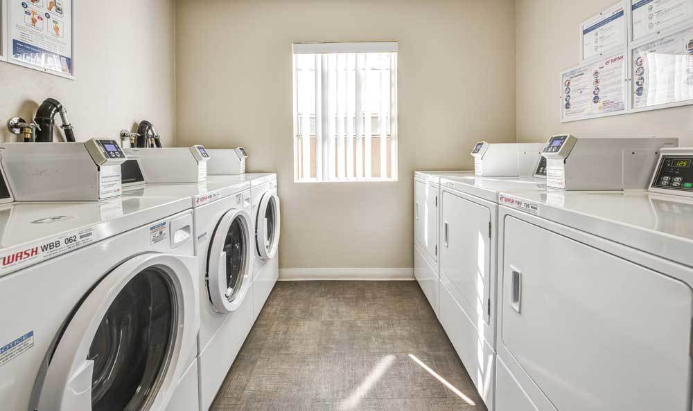 Laundry facility at apartments in Burbank, CA