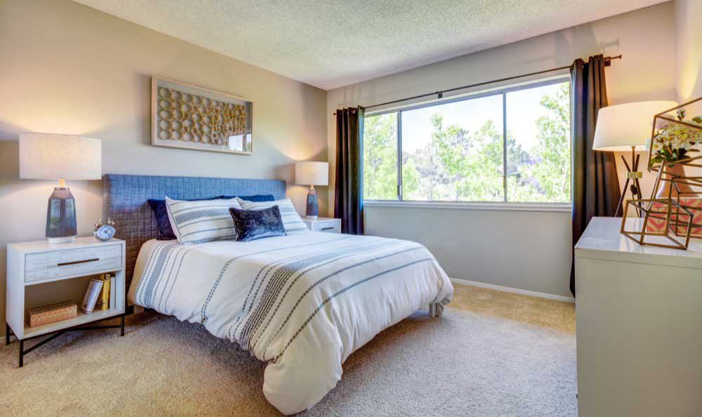 Beautiful bedroom at Sofi Belmont Hills in Belmont, CA