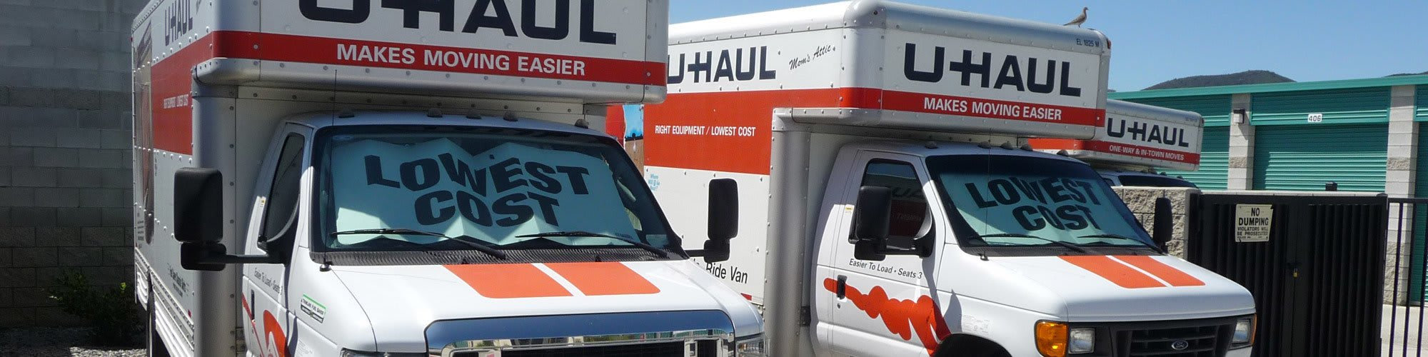 Rent a moving truck at All About Storage Temecula