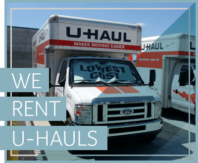 We rent Uhaul trucks at our self storage facility in Temecula, CA