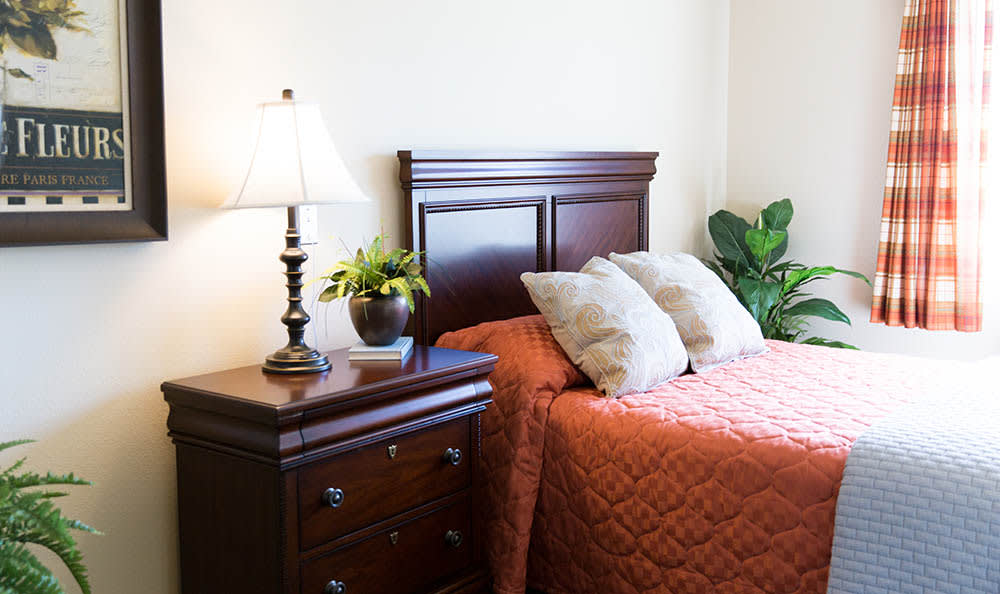 Bedrooms at Pheasant Run Alzheimer's Special Care Center in South Jordan, UT